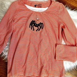 Basic editions Halloween striped top small